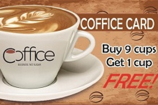 Buy 9 cups, get 1 cup FREE!