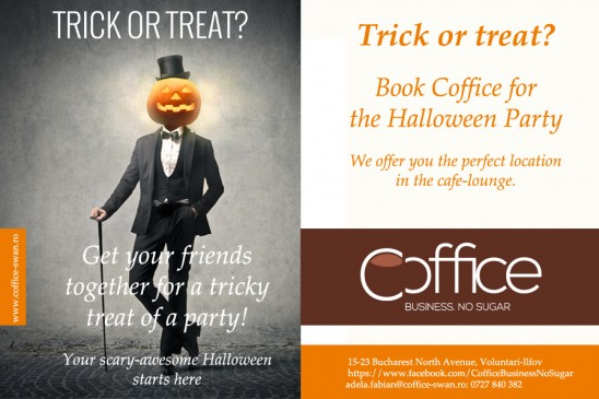 Book Coffice for the Halloween Party!